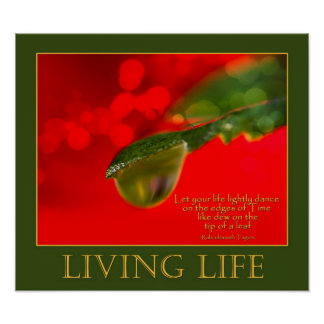 LIVING LIFE POSTER
