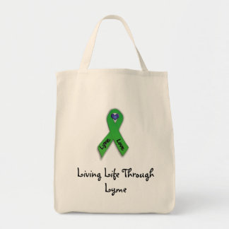 Living Life Through Lyme Grocery Tote Bag