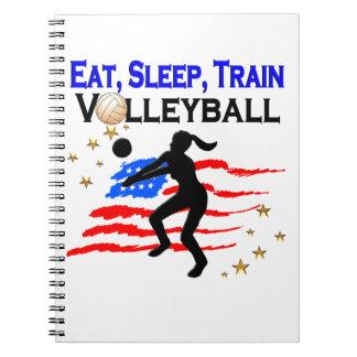 LIVING MY VOLLEYBALL DREAM DESIGN NOTEBOOKS