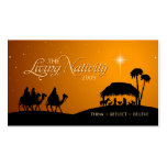Living Nativity Christmas gift tag Business Card Template