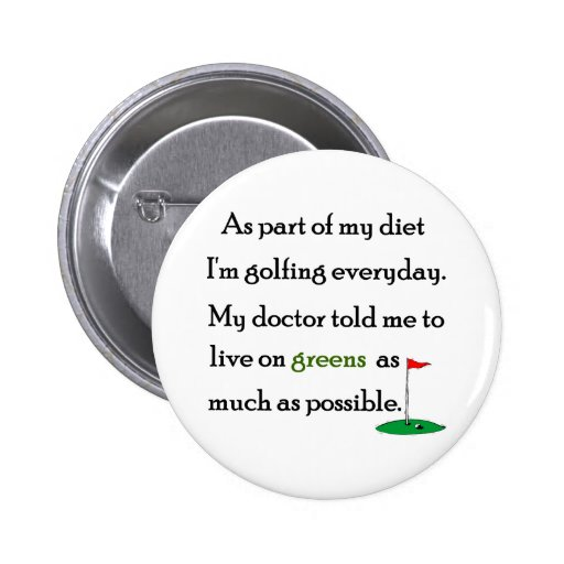 Living On Greens Buttons