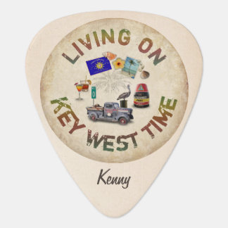 Living on Key West Time Guitar Pick