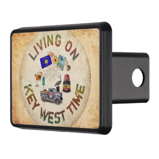 Living on Key West Time Trailer Hitch Cover