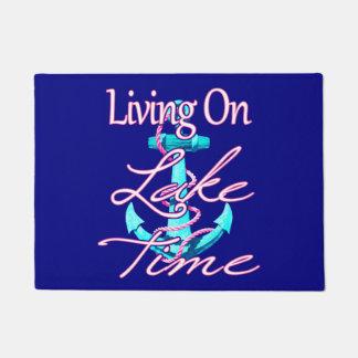 Living On Lake Time Doormat
