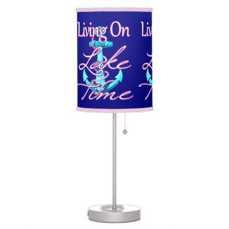 Living On Lake Time Table Lamp