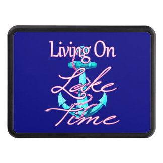 Living On Lake Time Trailer Hitch Cover