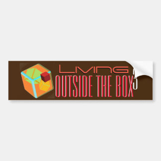 Living Outside the box cubed Bumper Sticker