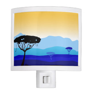 Living room lamp with Africa trees Night Lites