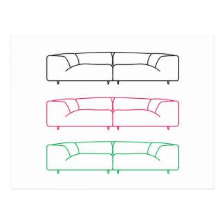 Living room modern sofa postcard