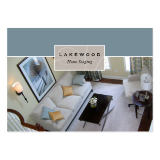 Living Room Staging Stager Photo Business Card