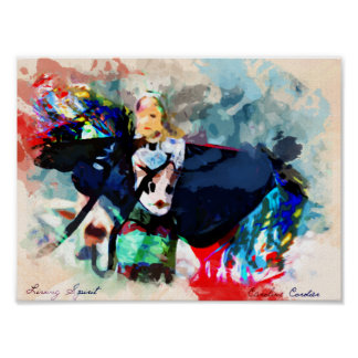 Living spirit Series - Fancy shawl Poster