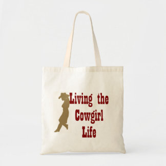 Living the Cowgirl Life Budget Tote Bag