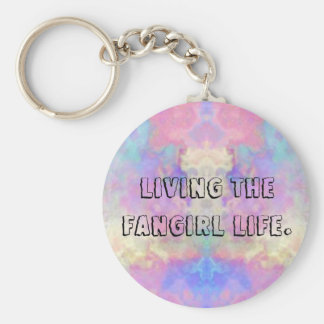 Living the fangirl life button. basic round button keychain