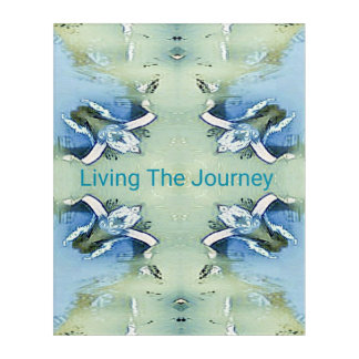 """Living the Journey"" Blue Green Positive Pattern Acrylic Print"