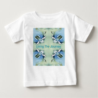 """Living the Journey"" Blue Green Positive Pattern Baby T-Shirt"