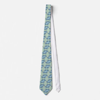 """Living the Journey"" Blue Green Positive Pattern Tie"