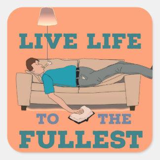 Living the Life! Square Sticker