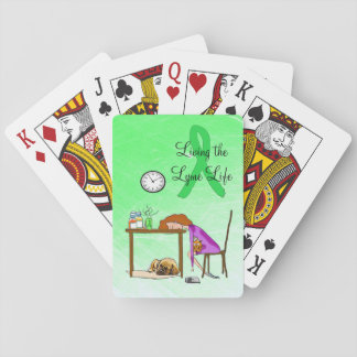 Living the Lymie Life Lyme Disease Playing Cards