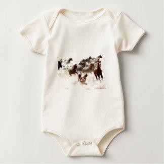 living the past_Painting.jpg Baby Bodysuit
