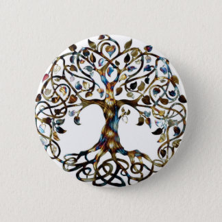 Living Tree 2 Inch Round Button