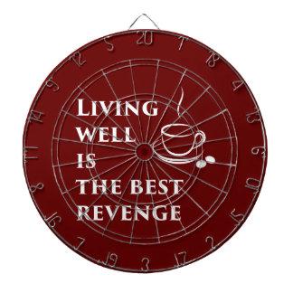 Living Well is the Best Revenge Dartboard