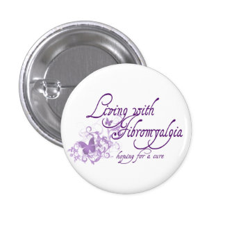 Living with Fibromyalgia Pinback Buttons