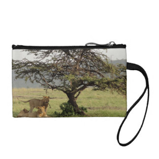 Living With Lions Key Coin Clutch Photo & Quote Coin Purses