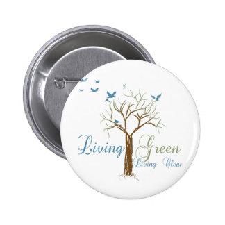 LivingGreen 2 Inch Round Button