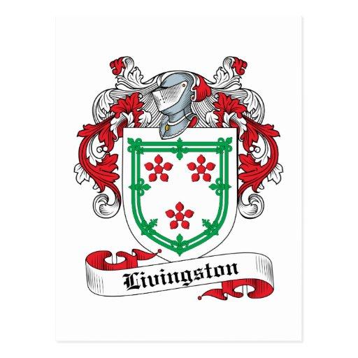Livingston Family Crest Post Cards