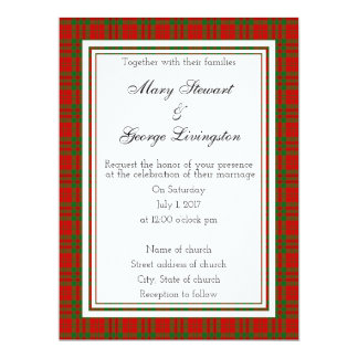 Livingston Scottish Wedding Invitation