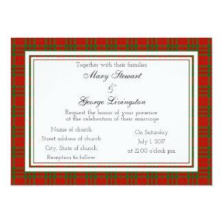 Livingston Scottish Wedding Invitation