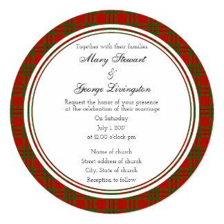 Livingston Scottish Wedding Round Invitation