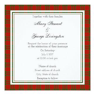 Livingston Scottish Wedding Square Invitation