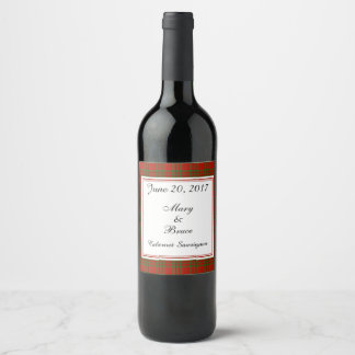 Livingston Scottish Wedding Wine Label