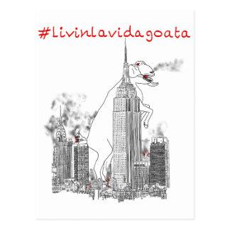 #LivinLaVidaGoata funny New York giant goat attack Postcard