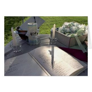 Livre de mariage - carte de note