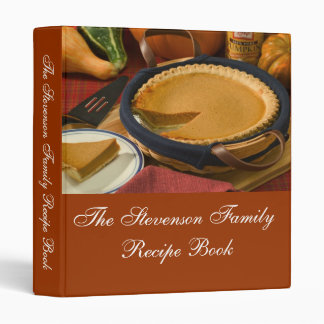 Livre de recette de thanksgiving personnalisé par classeur vinyle