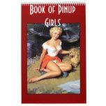 Livre de rétros filles de pin-up 14 images calendriers muraux