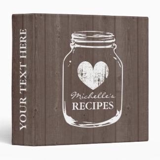 Livre en bois vintage de classeur de recette de