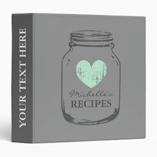 Livre vintage gris de classeur de recette de