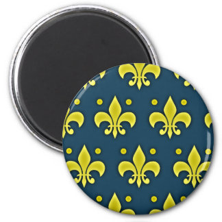 Liz Flower Sign - Fleur-de-lis 2 Inch Round Magnet