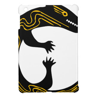 lizard art inspiration black white design iPad mini cover