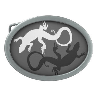 Lizard Belt Buckle Yin & Yan Lizard Art Buckles