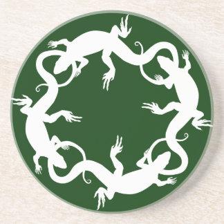 Lizard Coasters Reptile Art Decor Lizard Gifts