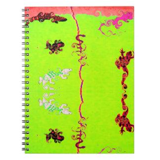 Lizard Collection:  Fluro Notebooks