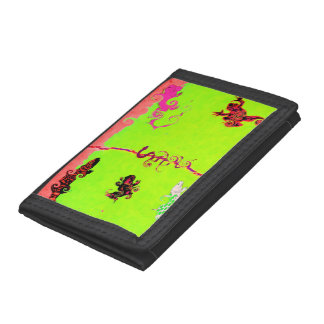 Lizard Collection:  Fluro Trifold Wallet