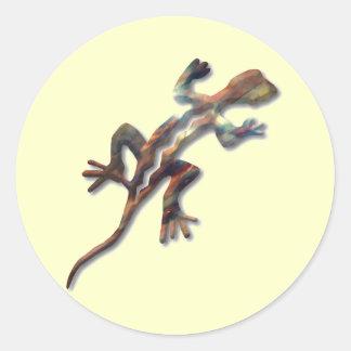 Lizard-copper Classic Round Sticker