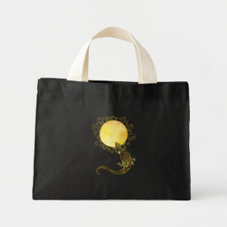 Lizard Holding the Spiral Sun Mini Tote Bag