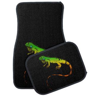 Lizard - Iguana Car Mat Set Black & Green