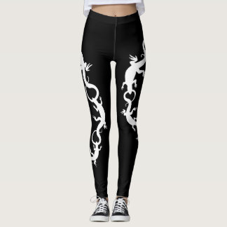 Lizard Leggings Reptile Wildlife Art Leggings